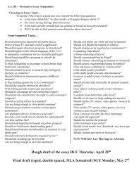 Persuasive Controversial Issue Essay Topics
