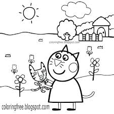 Peppa Pig Color Pages Pig Coloring Pages Cat Pig Coloring Page Free