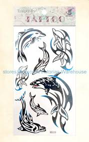 Details About Us Seller 12 Sheets Wholesale Tattoos Peace Sign Lizard Dolphin Temporary Tattoo
