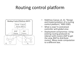 Design And Implementation Of A Routing Control Platform Road To Sdn Review The Main Features Of Sdn Ppt Download