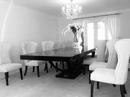 Cream And Black Dining Chairs Winda  Furniture - Modern white dining room sets