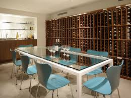 modern perfect furniture. Glass Surfaced Dining Table Light Blue Tables Wooden Wine Storages Kitchen Counter Marble Floor Modern Perfect Furniture C