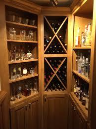 Thumb misc craftsman style quartersawn oak medium color raised panel big x wine  rack open bookcase