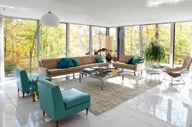 Turquoise Living Room Furniture Striped Throw Pillow For White 3 Seater Sofa On Black White