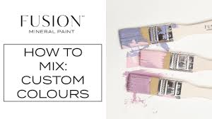 How To Create Custom Colours Fusion Mineral Paint