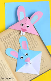 easter bunny corner bookmark craft for kids