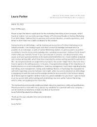 Internship Cover Letters Cover Letter Examples For Internship