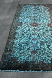 persian overdyed rugs vintage over dyed runner teal blue x by over dyed rugs by west persian overdyed rugs