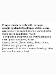 Kedudukan dan fungsi musik dalam tradisi masyarakat indonesia. Jelaskan Kedudukan Dan Fungsi Musik Sebagai Sarana Upacara Adat Brainly Co Id