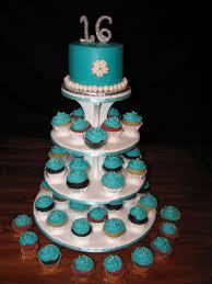 Sweet 16 Cupcakes Leilanis Heavenly Cakes Tiffany Blue Cake Pink