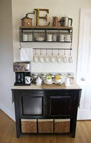 Not all coffee bars have to have legs of their own — all you really need is a corner of the countertop to dedicate to caffeination. Coffee Bar Update Home Coffee Bar Home Kitchens Home Diy