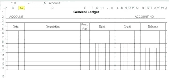Accounting Ledger Template Download Printable General Free