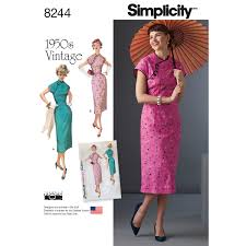 1950s Dress Patterns Classy Simplicity 48 Misses' 48s Dress
