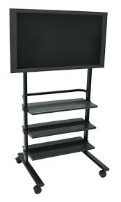 flat panel mount tv stand. H Wilson WFP100-B Versatile Mobile Flat Panel Mount And Stand Tv