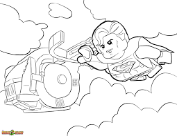 The Lego Movie Coloring Page Lego Superman Printable Color Sheet Ruva
