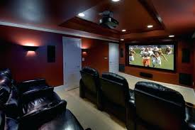 Basement Movie Room Ideas Transitional Basement Theatre Room