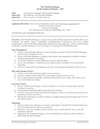 Convenience Store Manager Resume Job Description For Convenience