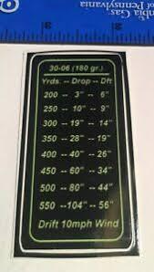 Details About Drop Chart Decal 30 06 180 Grain Large Surefire Weapon Light