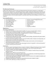 Remarkable General Accounting Resume With Professional Accounting