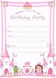 Print Birthday Invitation Print Free Invitations Birthday Party Guluca