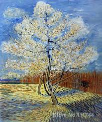 pink peach tree vincent van gogh famous paintings oil canvas reion high quality hand painted