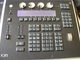 ion lighting console with 2 x 10 fader wing