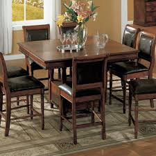 bar height dining room tables primary dining room simple wooden dining set with table and storage