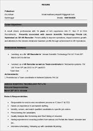 Sample Bpo Resume Resume Format For Experienced Candidates