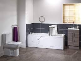 this stylish walk in bath is the perfect option for those seeking a relaxing experience in a full length bath
