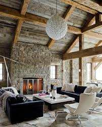 Rustic Design For Living Rooms Decoration House Where Rustic And Modern Interior Designs Are