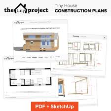 Small Picture Tiny House on Wheels Floor Plans Blueprint for Construction