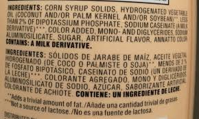 Fda regulations require that when foods characterized on the label as nondairy contain a caseinate ingredient, that ingredient. Coffee Creamer Nestle 453 5g