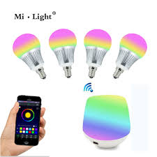 Smartphone Lighting Control Milight E14 5W RGBWW LED Bulb With WIFI Controller 16 Millions Colors Led Home Lighting Control Smartphone P