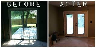 how to install a sliding glass patio door replace sliding glass door with french doors cost