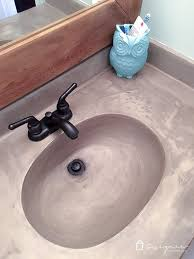 simple sink learn how our diy concrete vanity is holding up 18 months after completion for diy concrete sink e