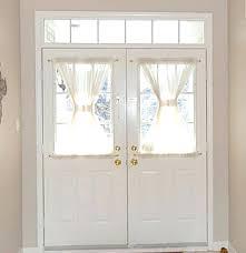 Front Doors: Charming Front Door Window Curtain For Ideas. Door ...