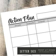 Action Plan In Pdf Impressive Letter Action Planner Action Printable Printable Planner PDF