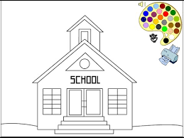 school coloring pages. Simple School School Coloring Pages For Kids