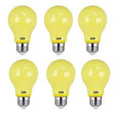 Yellow Light Bulbs Repel Bugs Feit Electric 5 Watt A19 60 Watt Equivalent Medium E26 Base