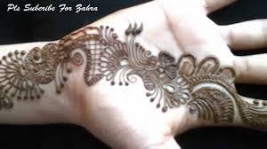 Latest Mehandi Design Front Hand 2015 Video Youtube
