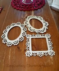 laser cut wooden frames