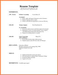 Very Simple Resume Example Of Simple Resume Template Business