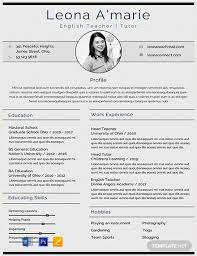 Cv Template Education Free English Teacher Cv Template Word Psd Indesign