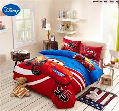bright and modern lightning mcqueen comforter set mcqueen cars bedding cotton bedclothes cartoon disney printed bed covers boys home decor single