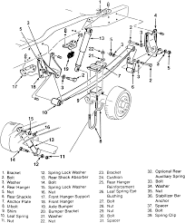 Repair guides rear suspension leaf spring rh chevy 10 bolt axle diagram