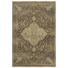 allen roth brown inspirational area rug