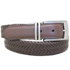 details about good vibe reversible braided leather belt size 38