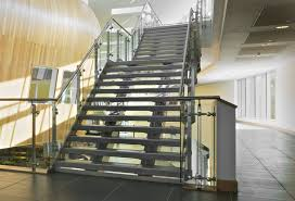 Stainless steel railing / glass panel / indoor / for mezzanines QUICKRAIL Q  Railing Europe ...