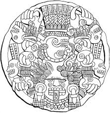 Small Picture Aztec Coloring Book Pages Printable Coloring Sheets