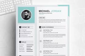 Clean Professional Resume One Page Clean And Professional Resume Design Template Ms Word Apple Pages Cover Letter
